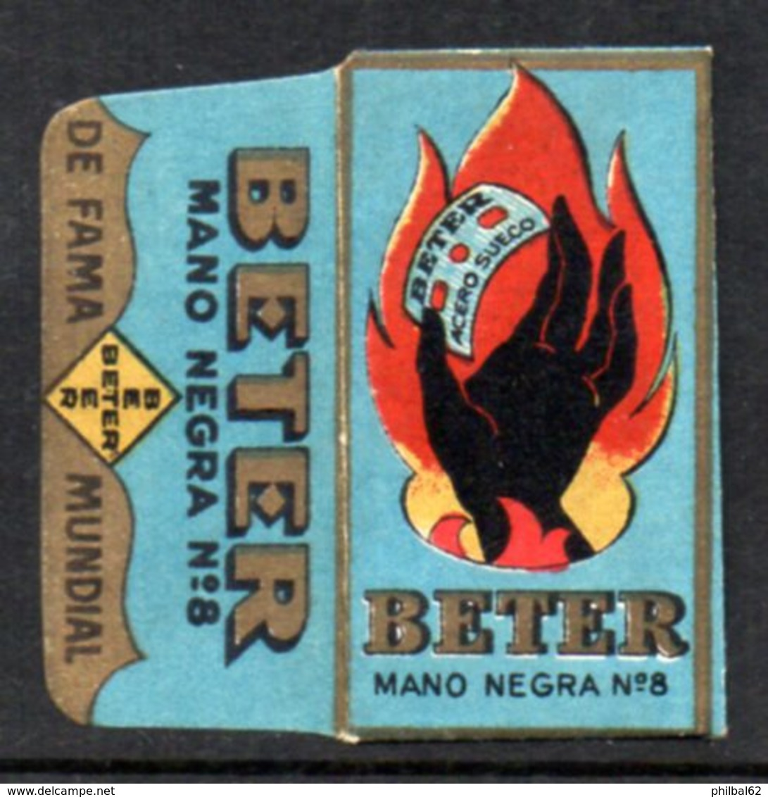 Rasage. Razor Blade. Lame De Rasoir. Lame Beter, Mano Negra N°8, Fabrication Espagnole. - Razor Blades