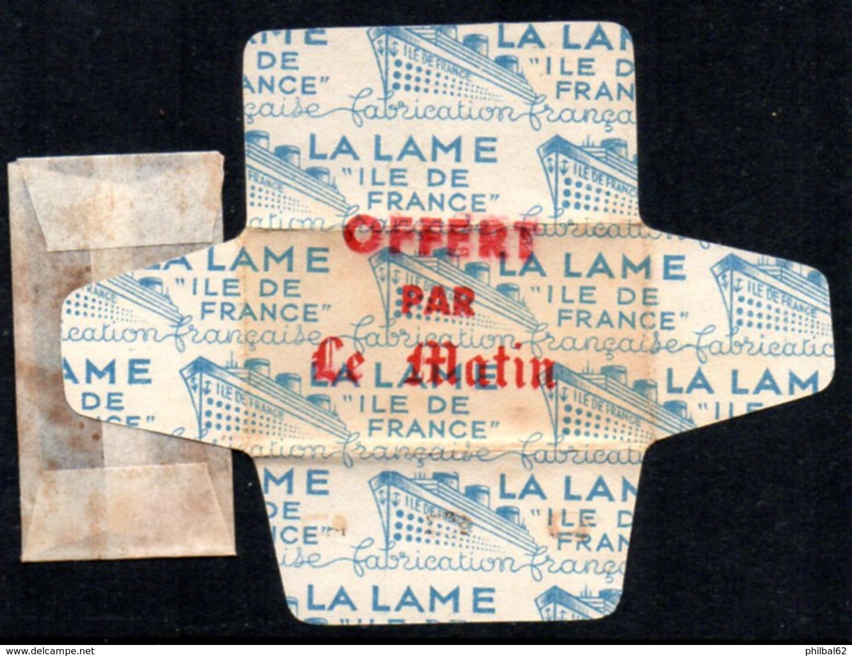 "Rasage. Razor Blade. Lame De Rasoir. Lame Ile De France, Offert Par ""Le Matin"". - Razor Blades"
