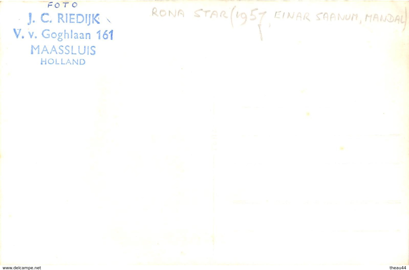 "¤¤  -   Carte-Photo Du Bateau De Commerce "" RONA STAR "" -  Cargo    -  ¤¤ - Commerce"