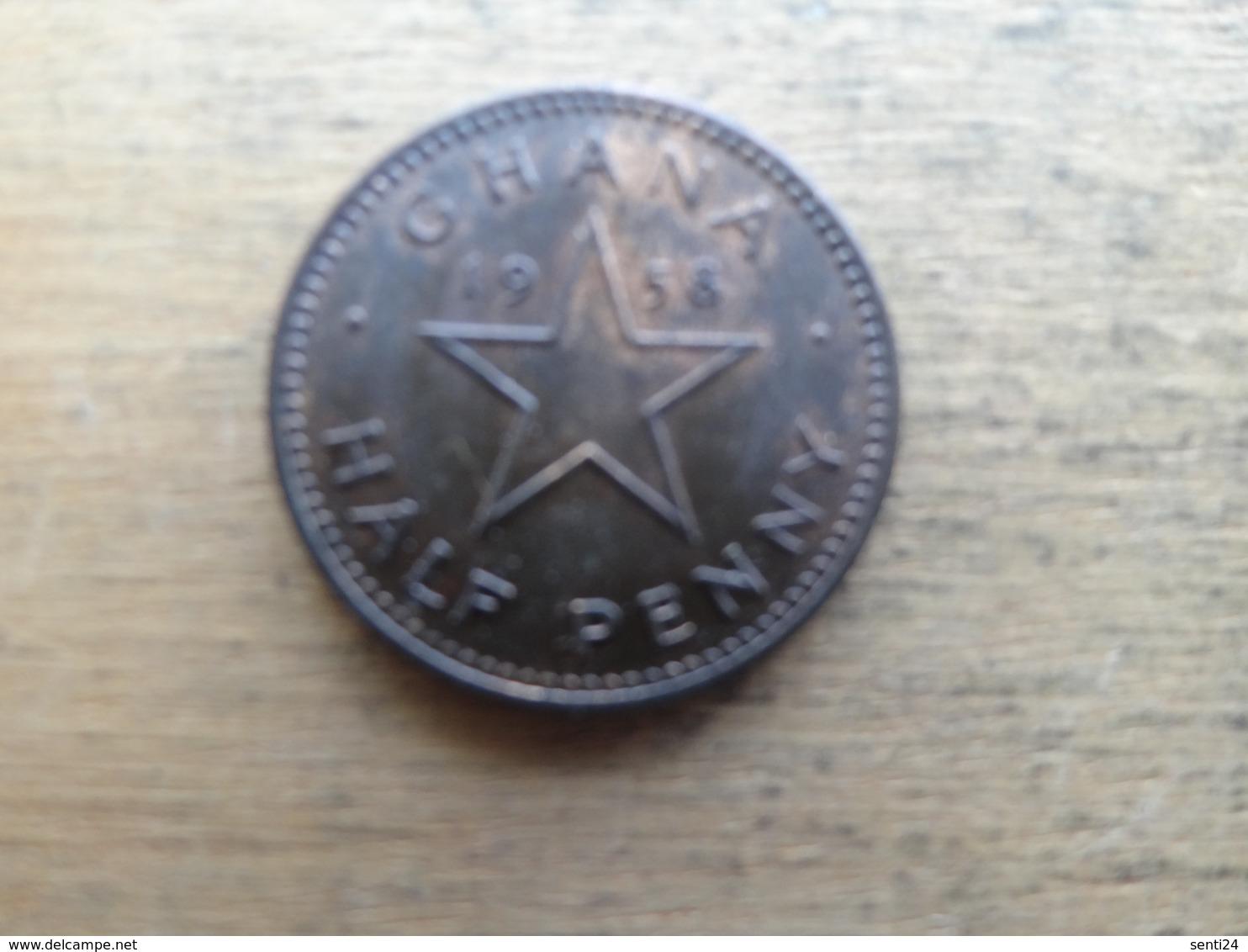 Ghana  1/2  Penny  1958  Km 1 - Ghana