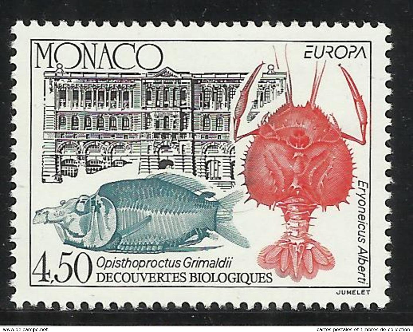 MONACO , 4.50 Frs , EUROPA , L' Europe Et Les Découvertes , 1994 , N° YT 1936 , NEUF ** - Neufs