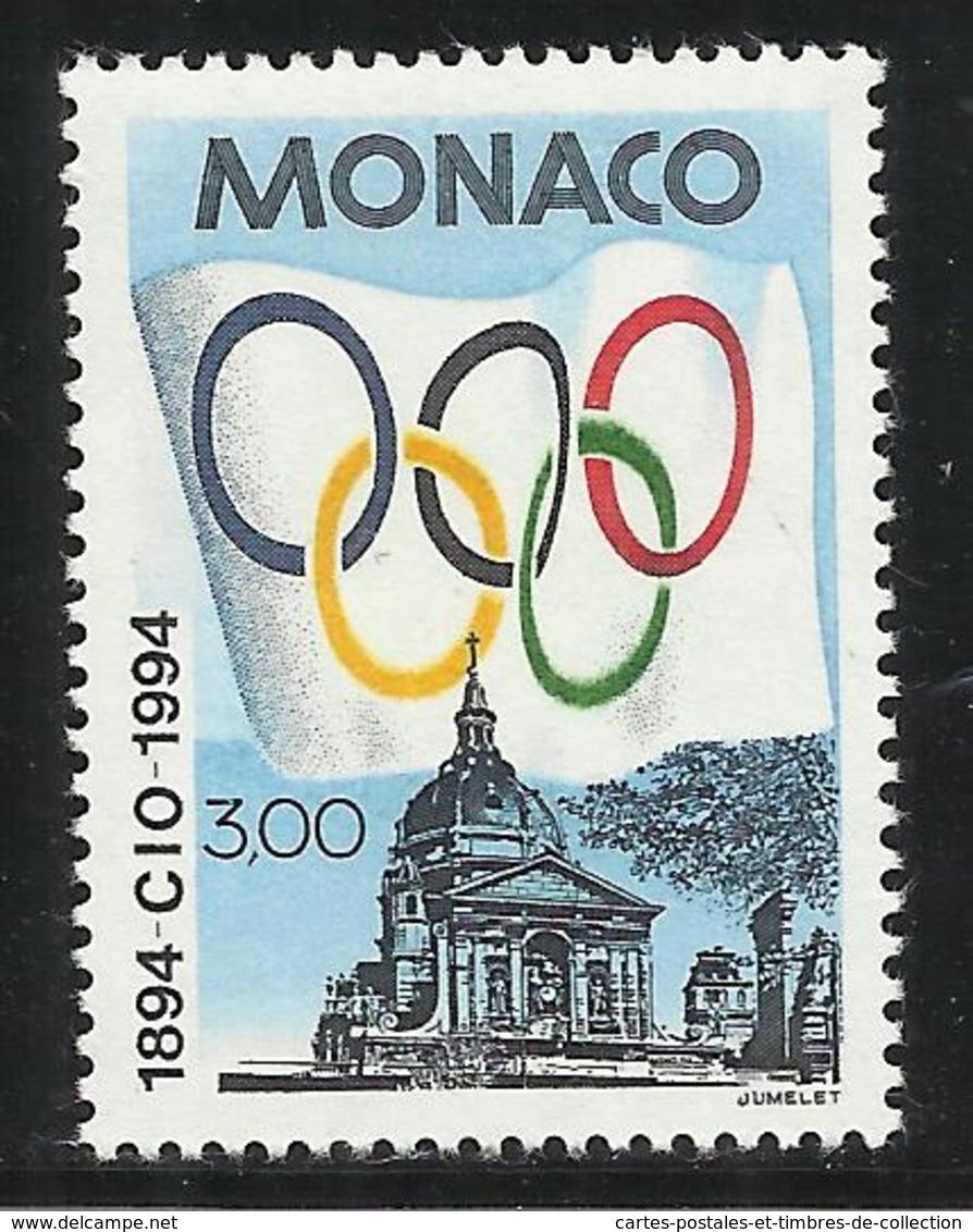 MONACO , 3 Frs , Centenaire Du Comité International Olympique , 1994 , N° YT 1937 , NEUF ** - Neufs