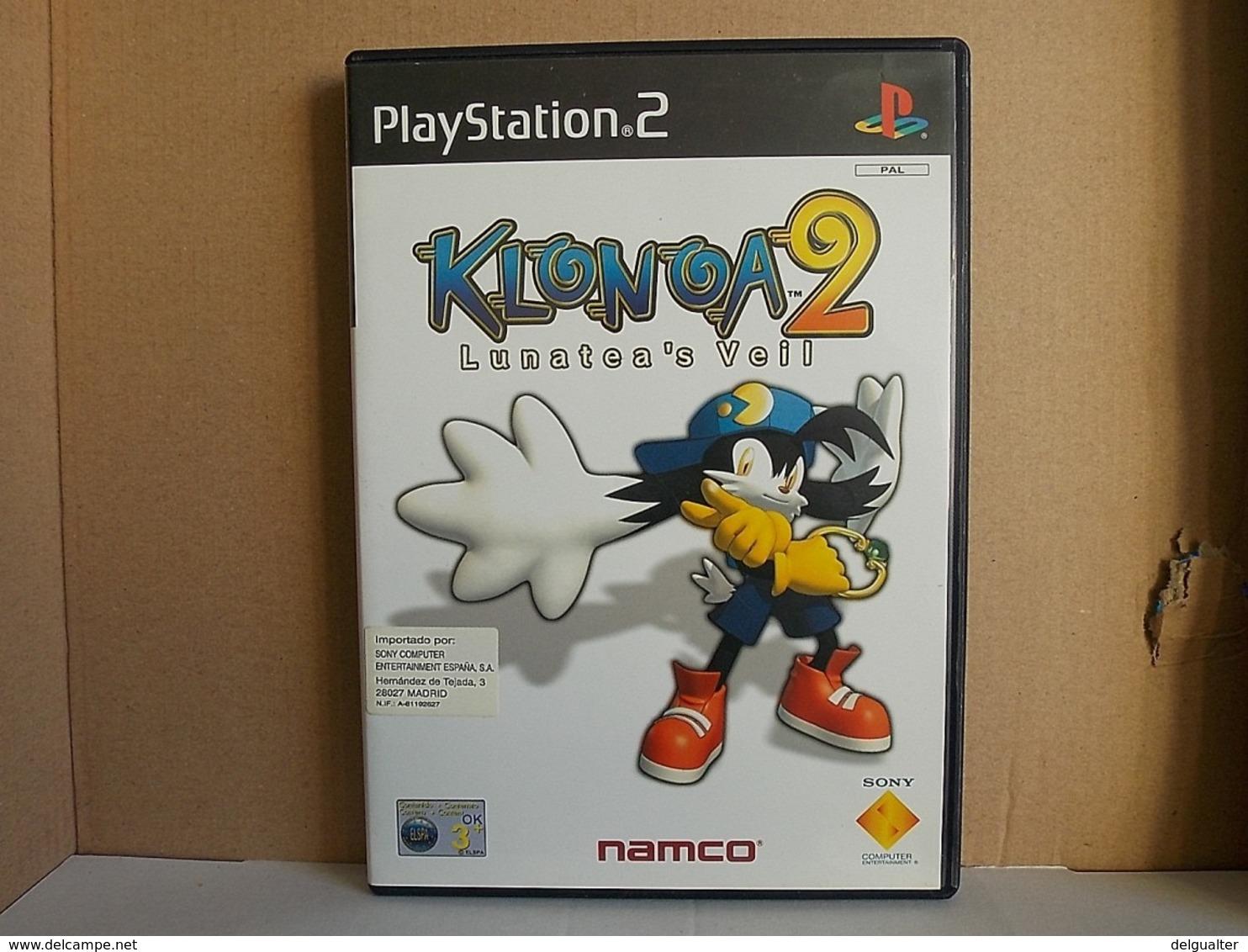 PS2 Game * Klonoa 2 Lunatea's Veil - Sony PlayStation