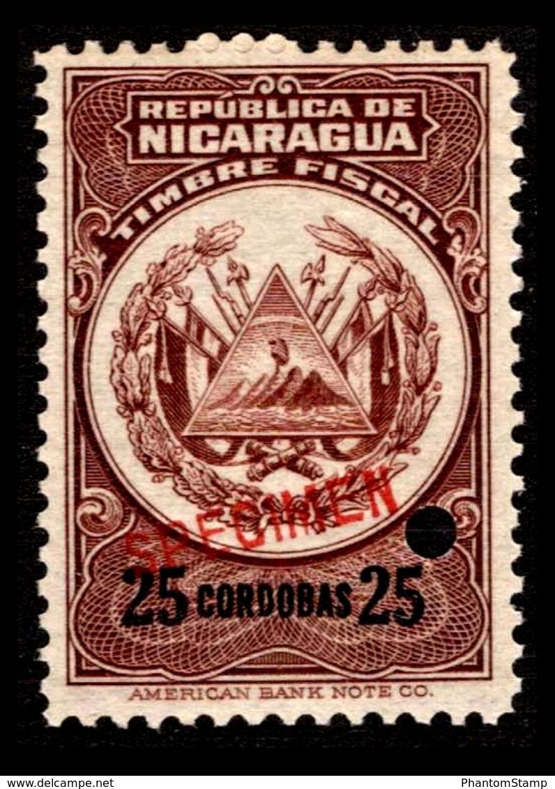 Nicaragua Color Proof $25 Cordobas Specimen - Nicaragua