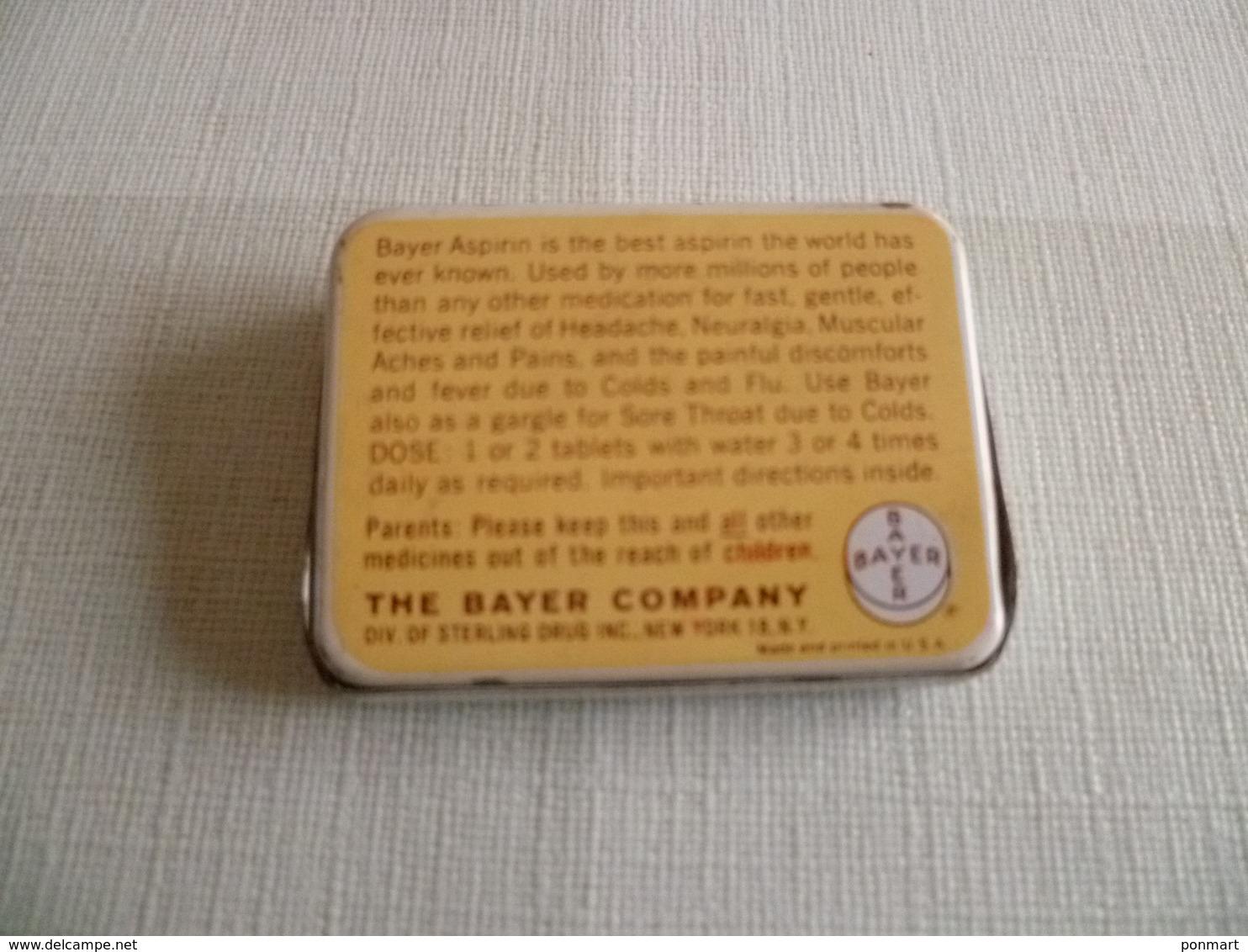 "Boite Métallique à Charnière Médicament "" Bayer Aspirin "" - Boîtes"