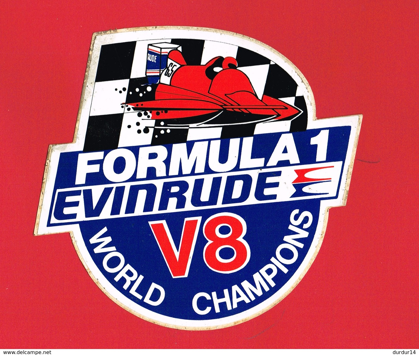 1 Autocollant FORMULA 1 EVINRUDE V8 - Autocollants