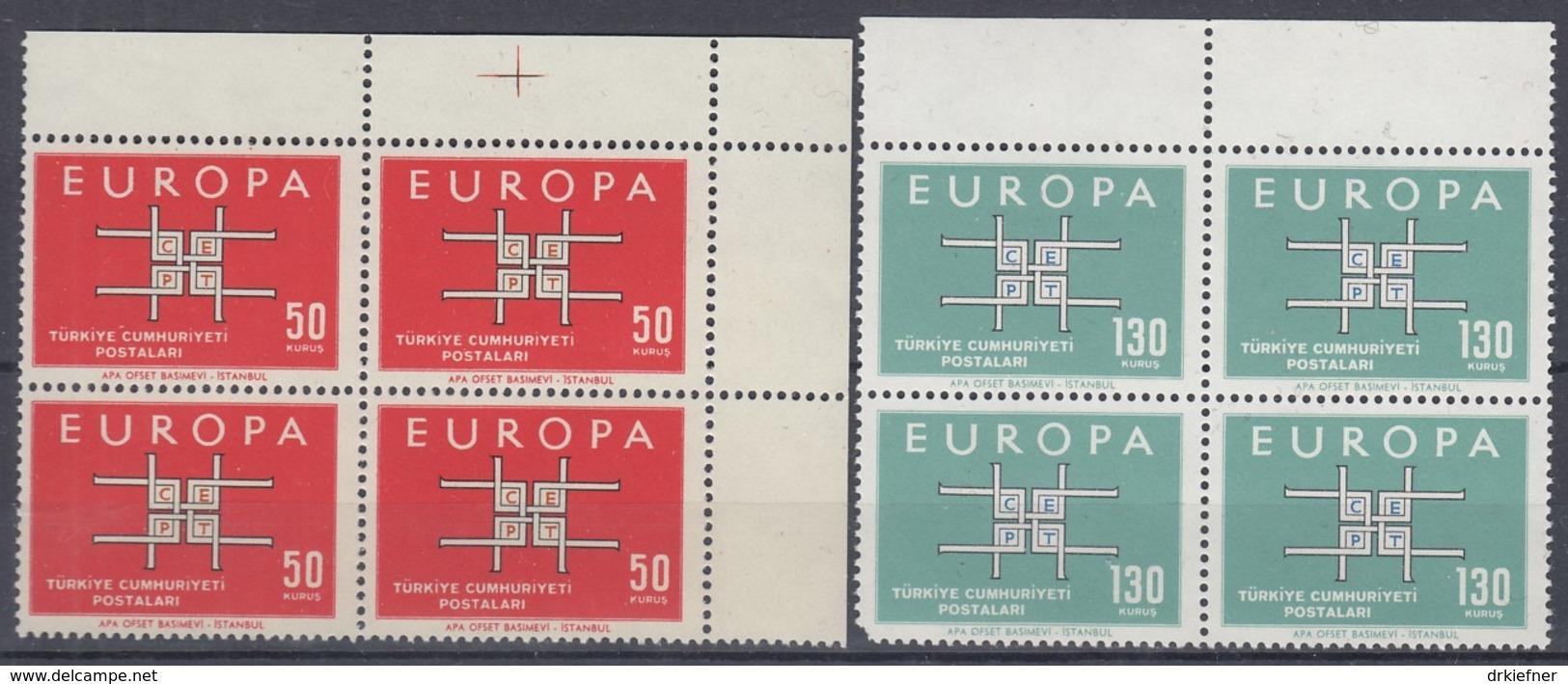 TÜRKEI 1888-1889, 4erBlock, Postfrisch **, Europa CEPT 1963 - Europa-CEPT
