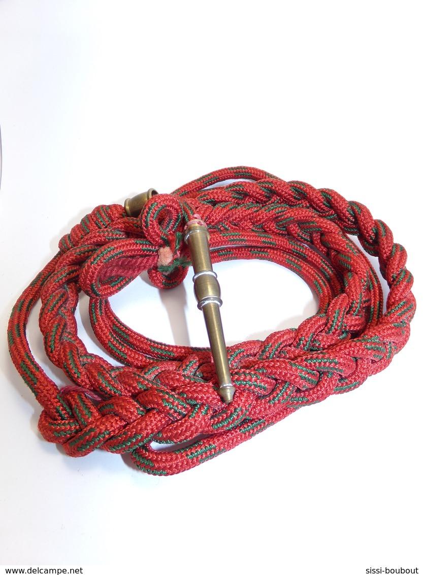 FOURRAGERE (Rouge Rayée Vert) Légion D'Honneur Sur T-O-E - Seconde Guerre Mondiale - Equipement