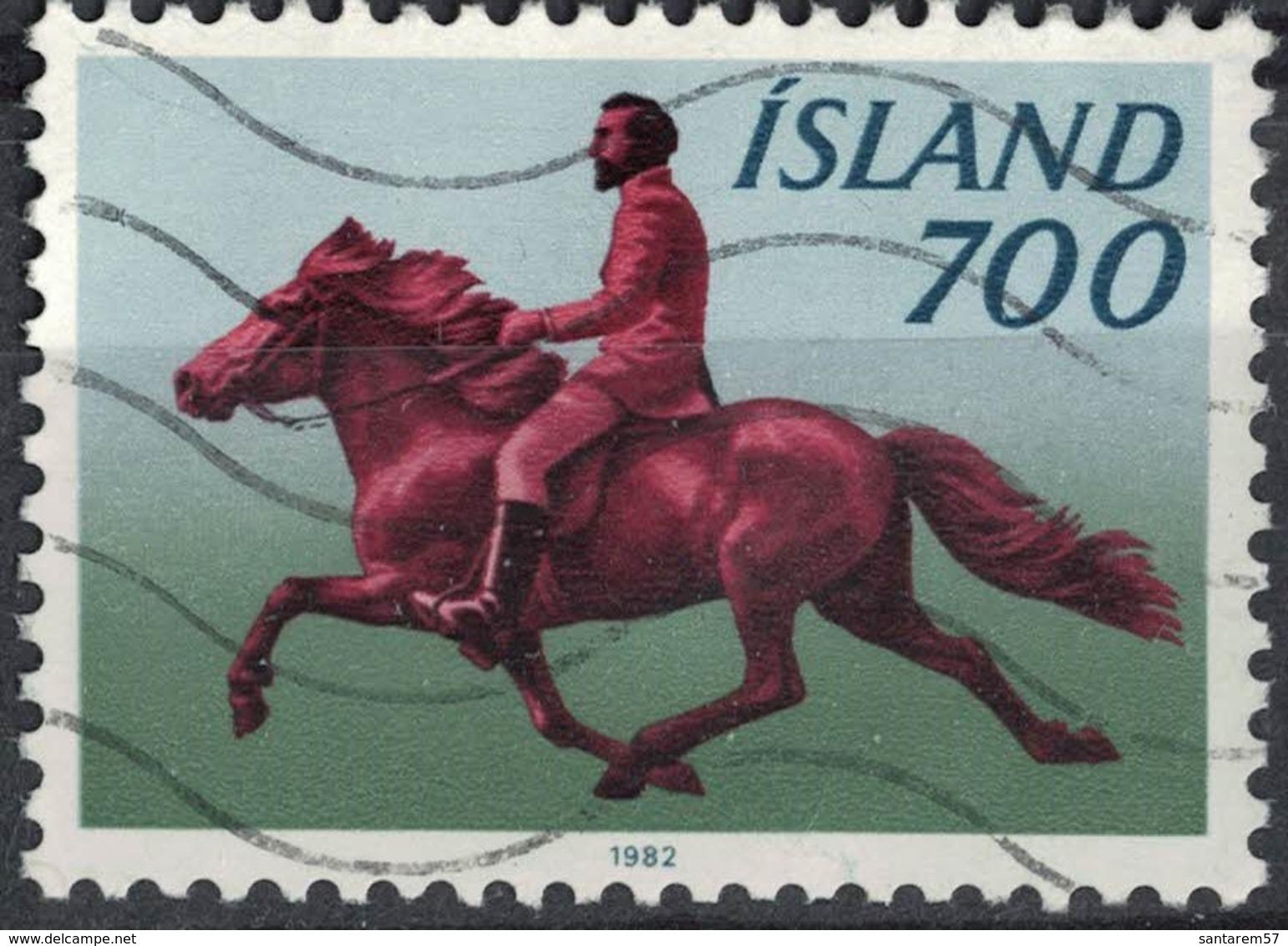 Islande 1982 Oblitéré Used Riding Cheval Au Galop Chevalier Équitation - 1944-... Republik