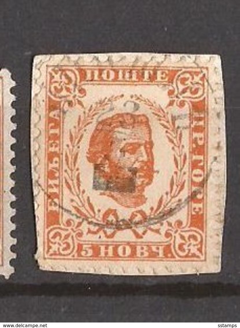 1898  36   PERF- 11 1-2 MONTENEGRO CRNA GORA  FUERST NIKOLA I    USED - Montenegro
