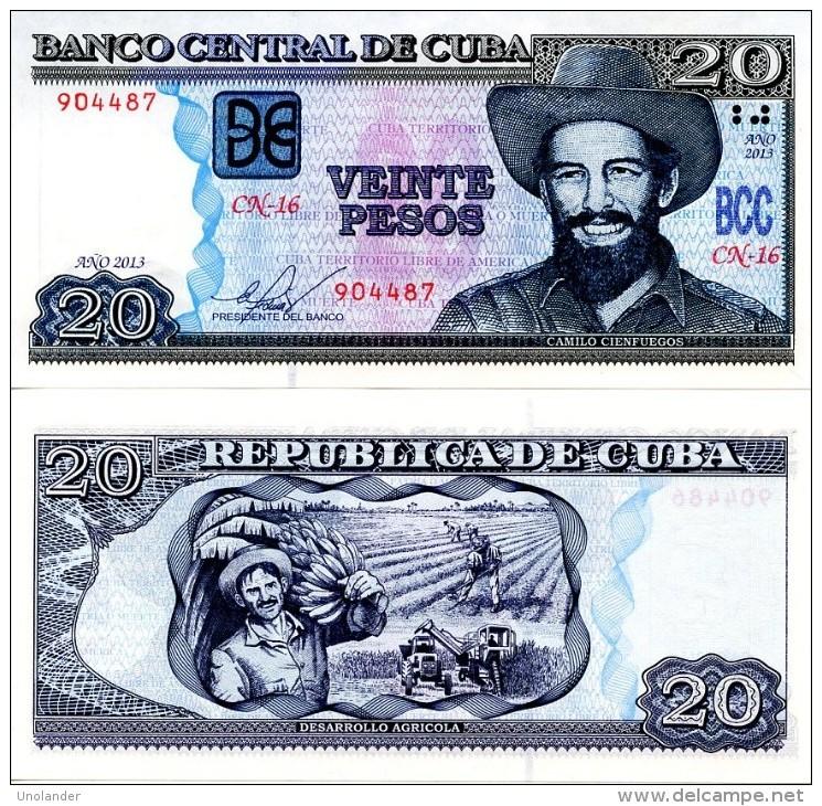 CUBA 20 Pesos  2013  P 122  UNC - Cuba