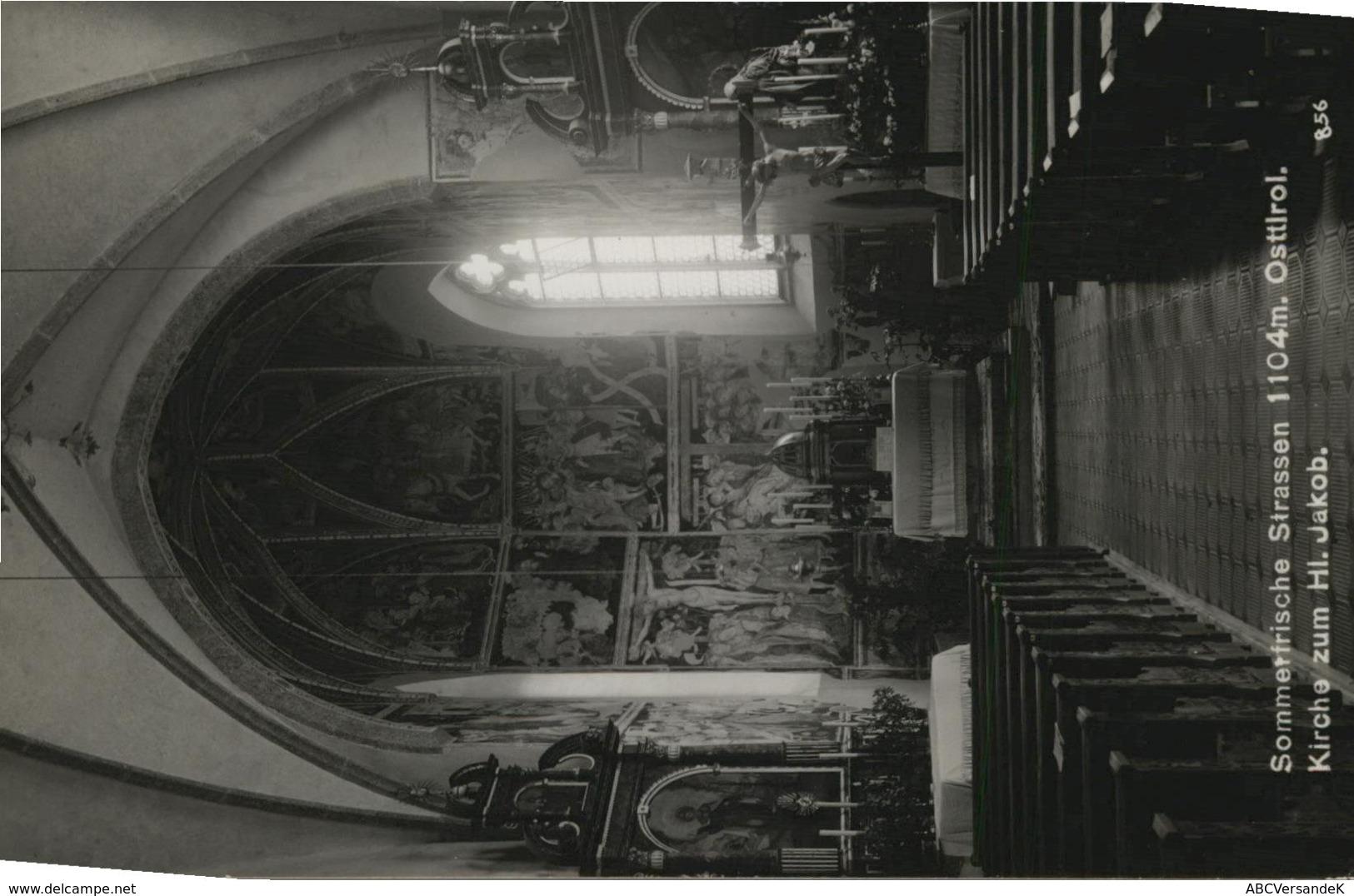 Sommerfrische Strassen. Osttirol. Kirche Zum Hl. Jakob. AK S/w. Kirchen Innenansicht - Postcards
