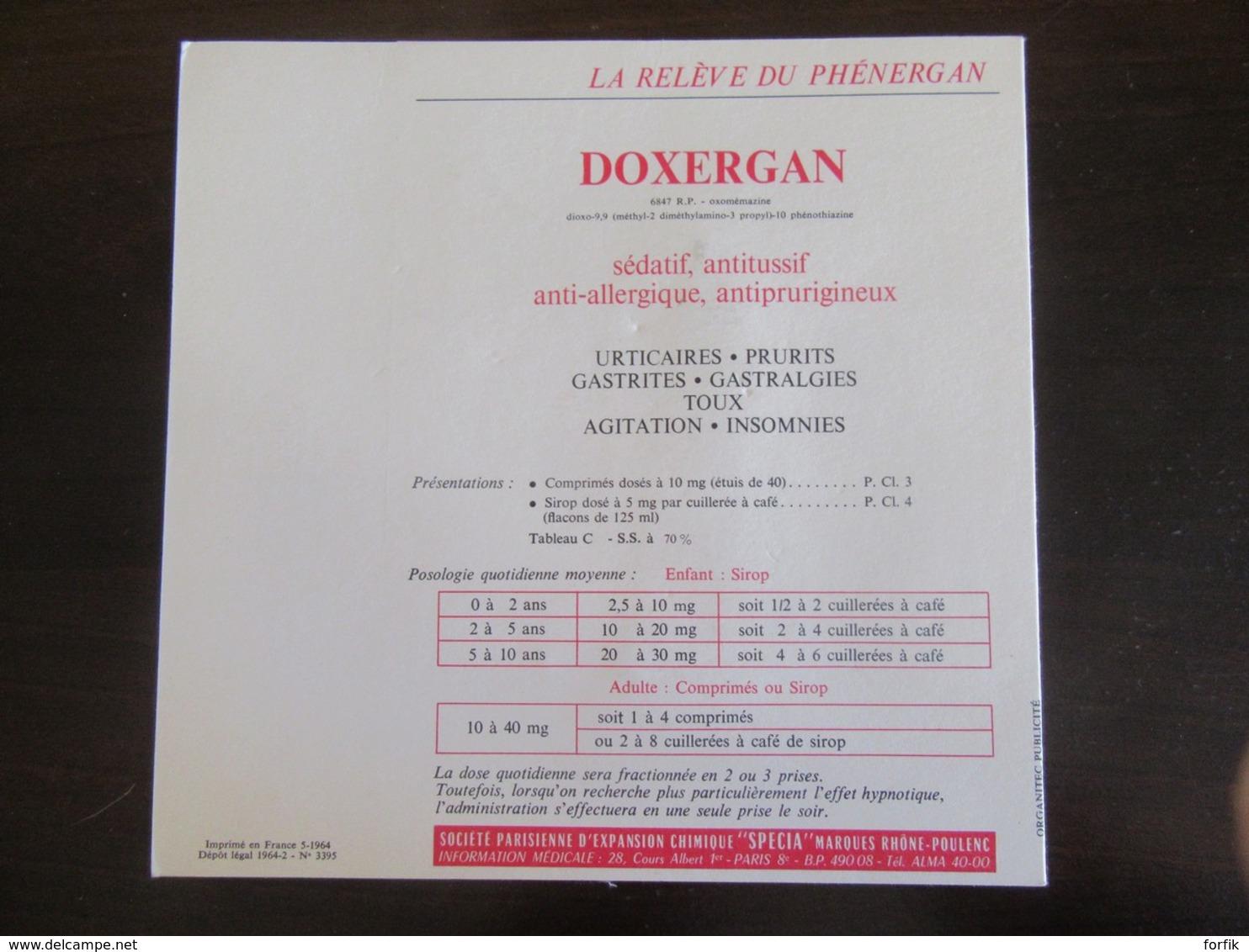 2 Publicités Toplexil / Doxergan (Specia) - Chirurgien Major (1775) Et Médecin Chef Des Armées (1803) - Advertising
