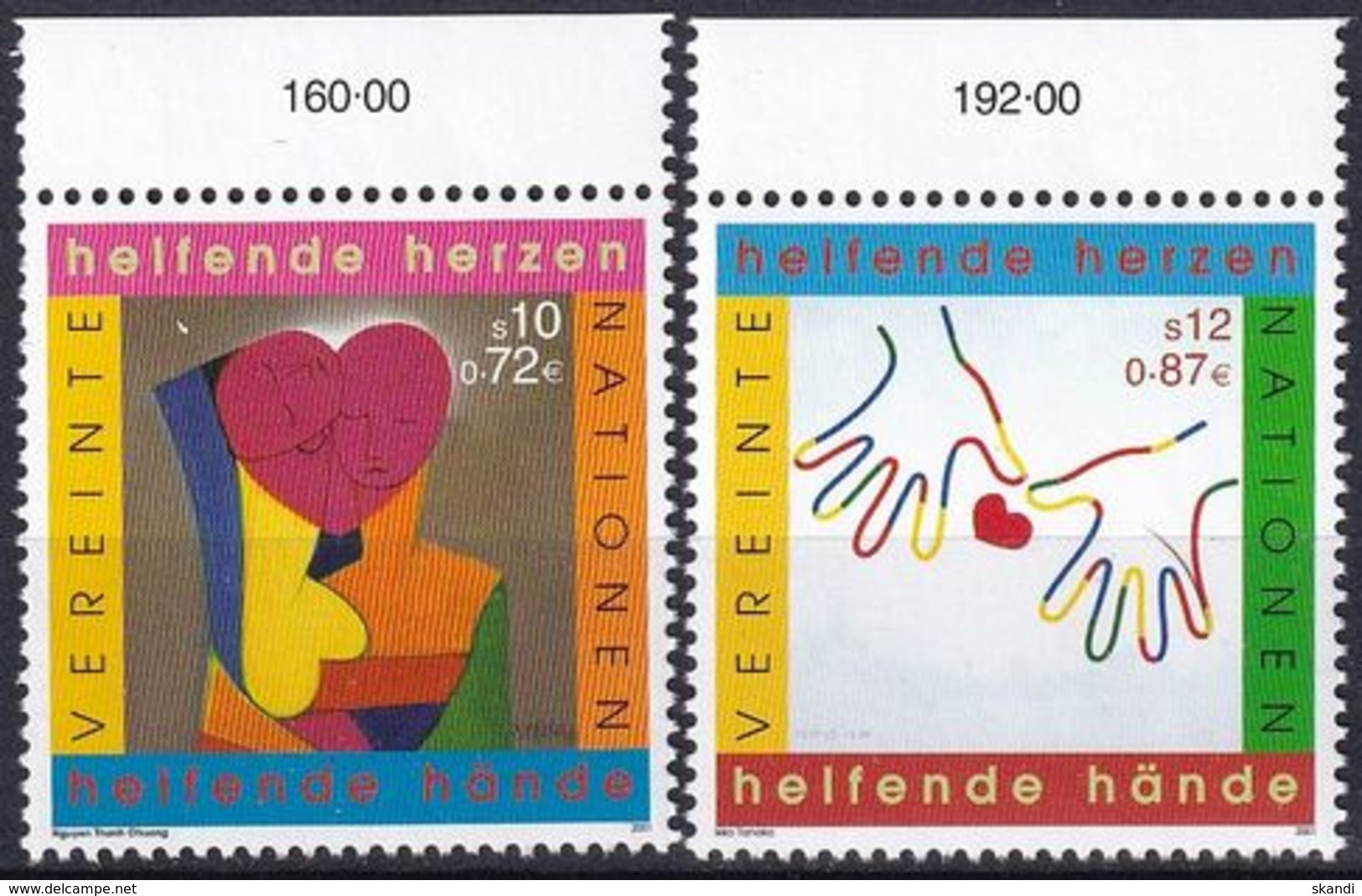 UNO WIEN 2001 Mi-Nr. 331/32 ** MNH - Ungebraucht