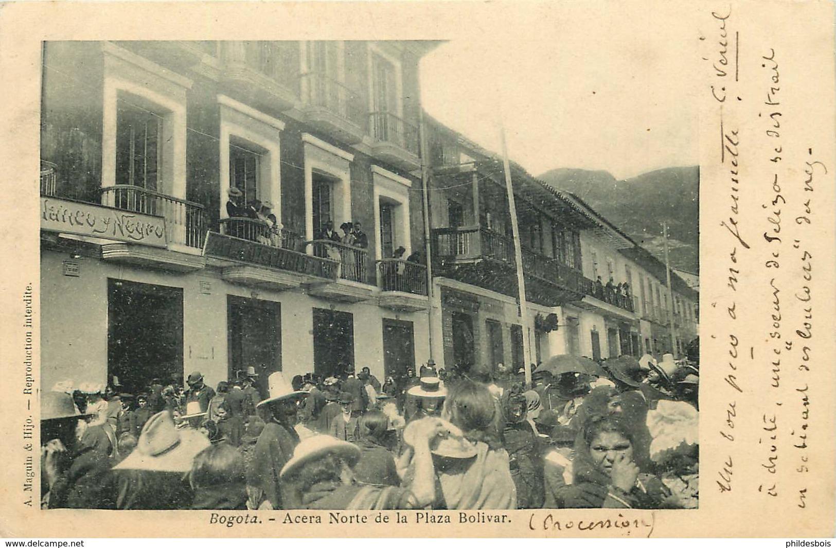 COLOMBIE  BOGOTA  Acera Norte De La Plaza Bolivar - Colombie