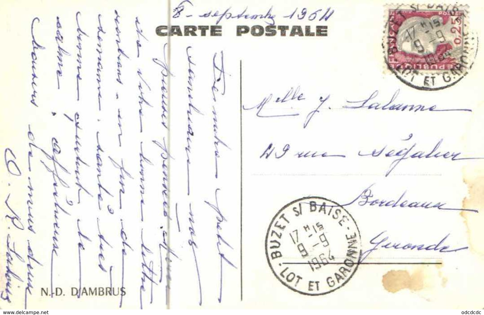 Cpsm Petit Format N D D'AMBRUS   RV - France