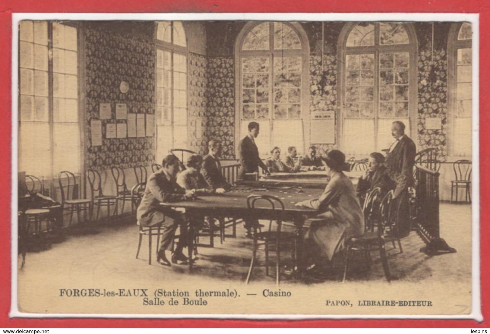 JEUX --- CASINO - FORGES Les EAUX - Salle De Boule - Cartes Postales