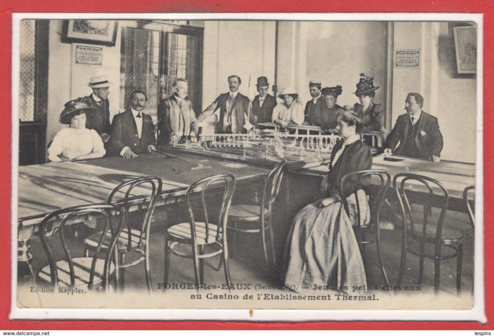 JEUX --- CASINO - FORGES Les EAUX - Jeux Des Petits Chevaux - Cartes Postales