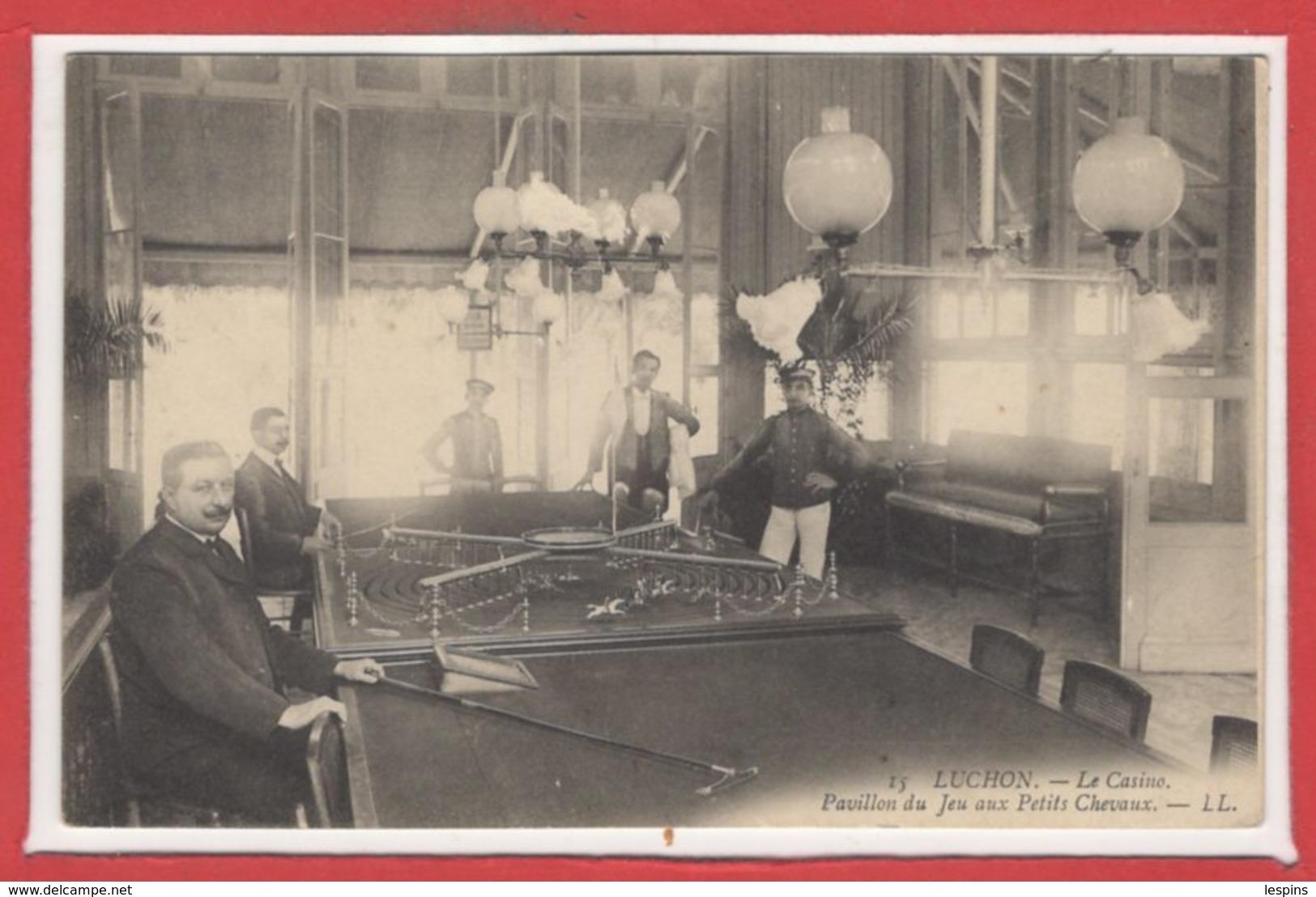 JEUX --- CASINO - Luchon -- Pavillon Du Jeu Aux Petits Chevaux - Cartes Postales