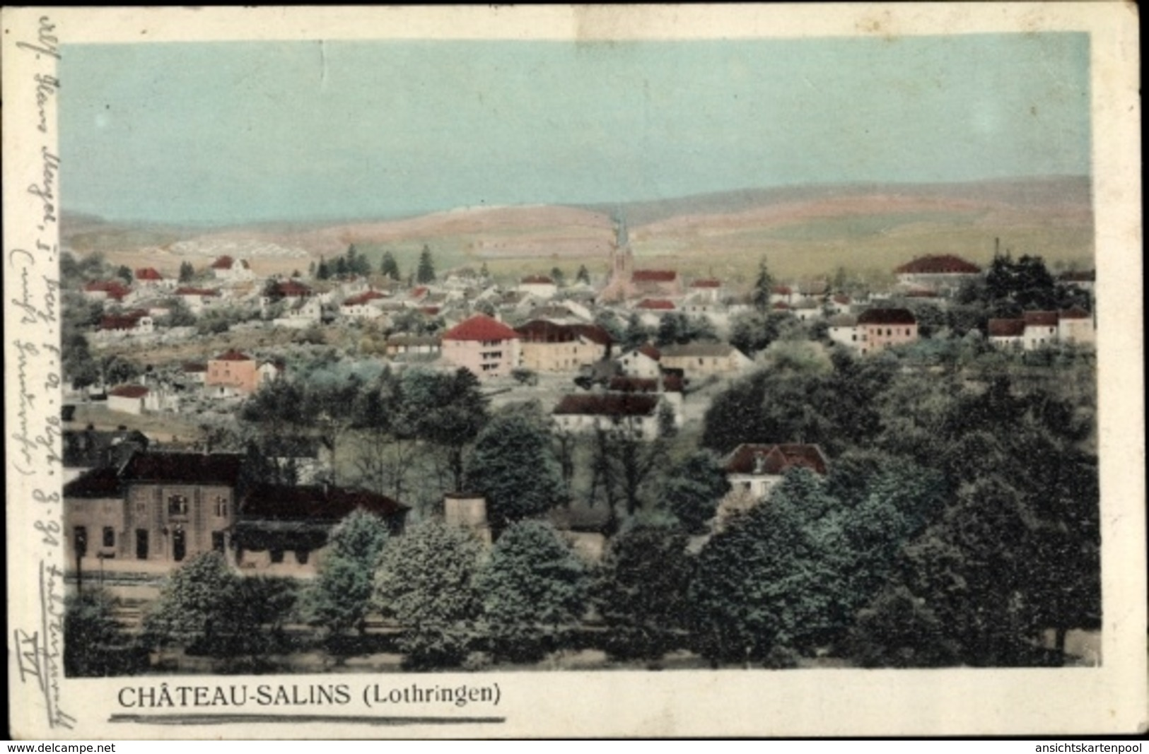 Cp Château Salins Lothringen Moselle, Vue Générale - France