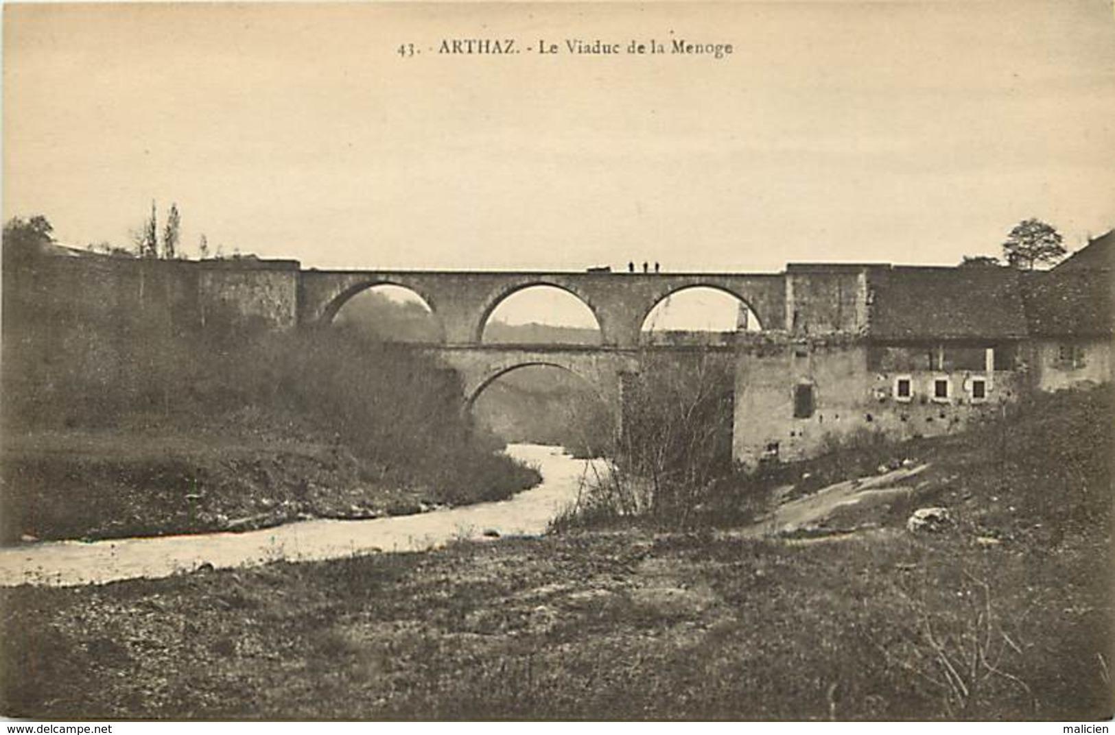 -dpts Div.-ref-AG983- Haute Savoie - Arthaz - Viaduc De La Menoge - Viaducs - Carte Bon Etat - - Andere Gemeenten
