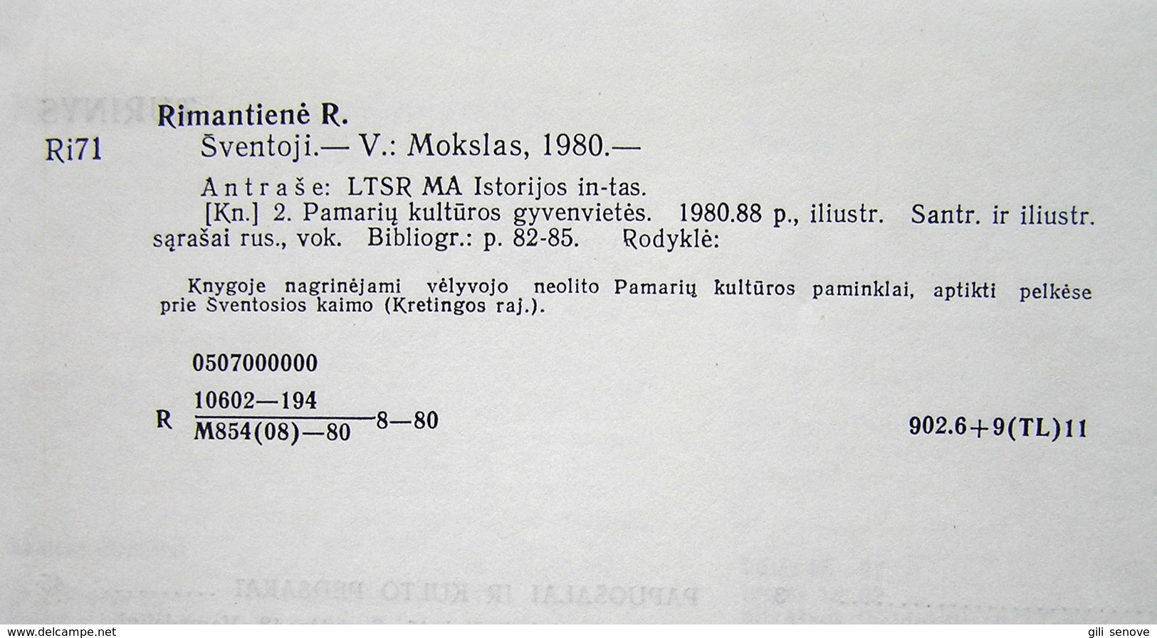 Lithuanian Book / Šventoji By Rimantienė 1980 - Kultur