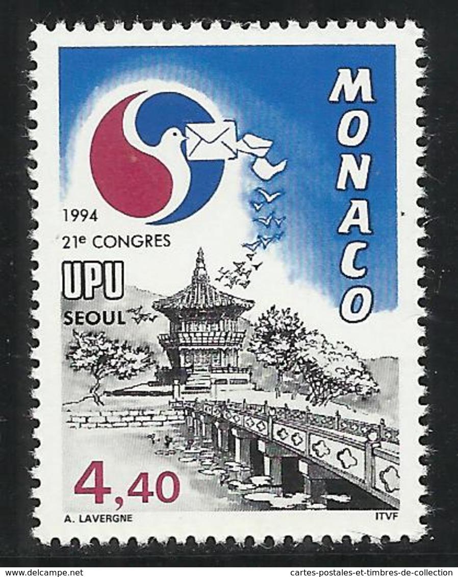 MONACO , 4.40 Frs , XXI Congrès De L'U.P.U. à Séoul ( Corée Du Sud ) , 1994 , N° YT 1944 , NEUF ** - Monaco