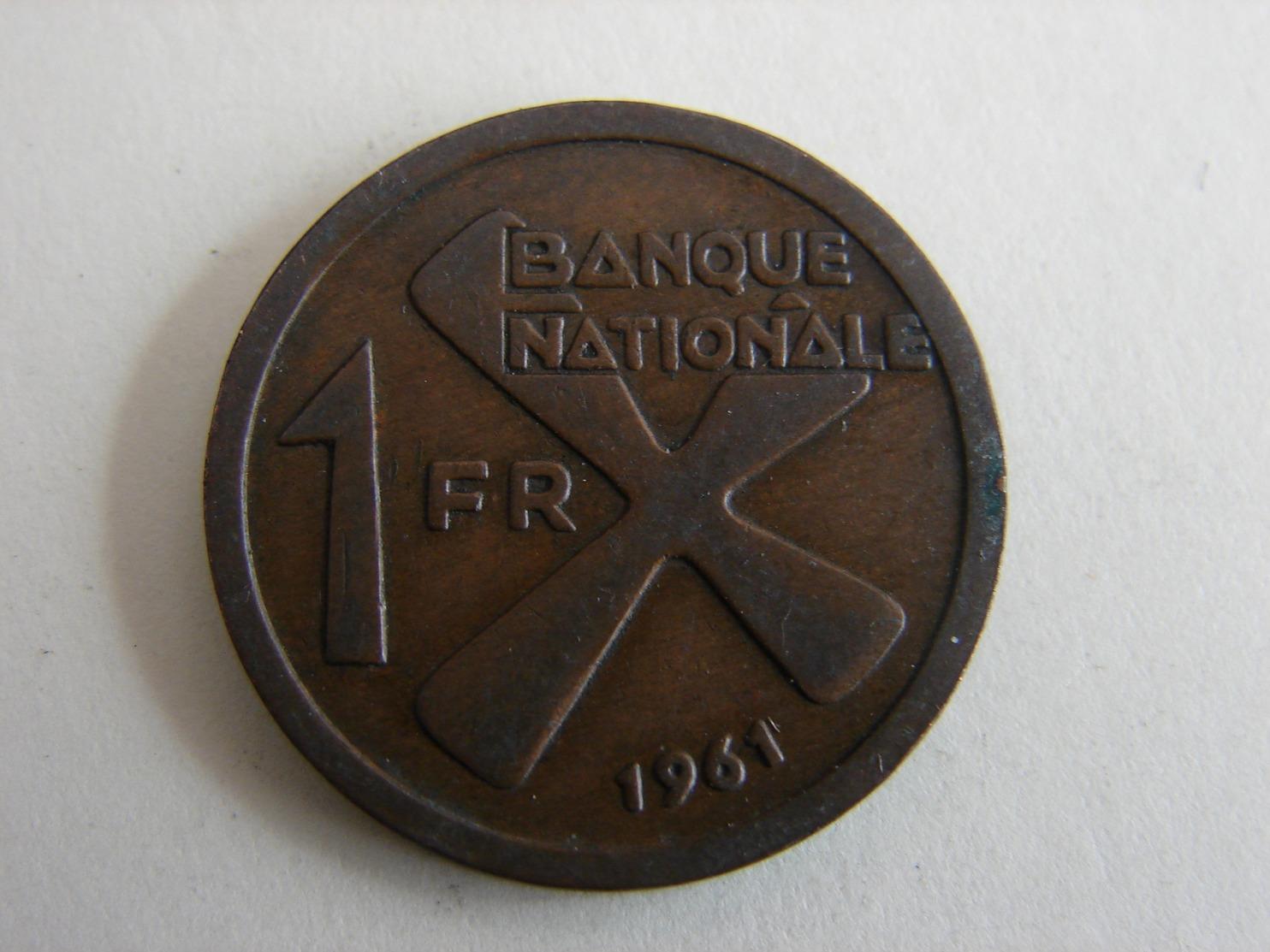 UN FRANC 1961. - Katanga