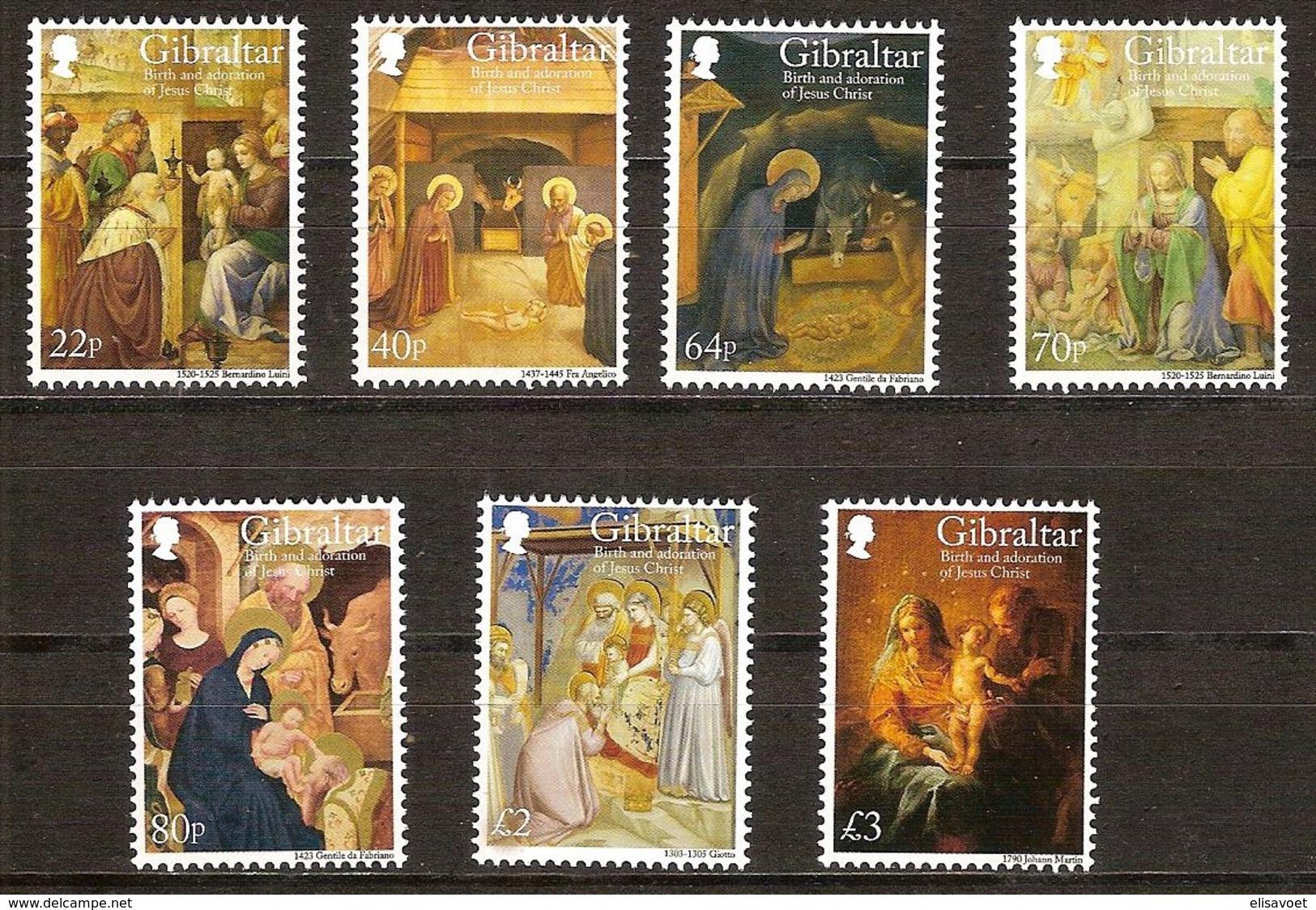 Gibraltar  2018 Micheln° 1887-1893 *** MNH Cote 20 Euro Christmas Kerstmis Noël - Gibraltar