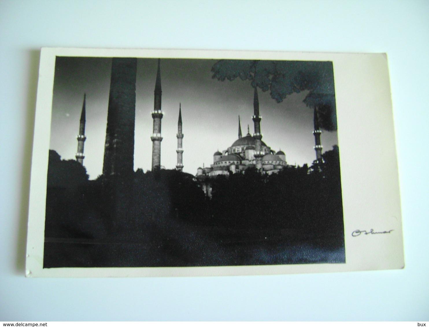 CARTE PHOTO , TURKEY, TURQUIE, ISTANBUL , SULTAN AHMET CAMII , SULTAN AHMET MOSQUE, - Turchia