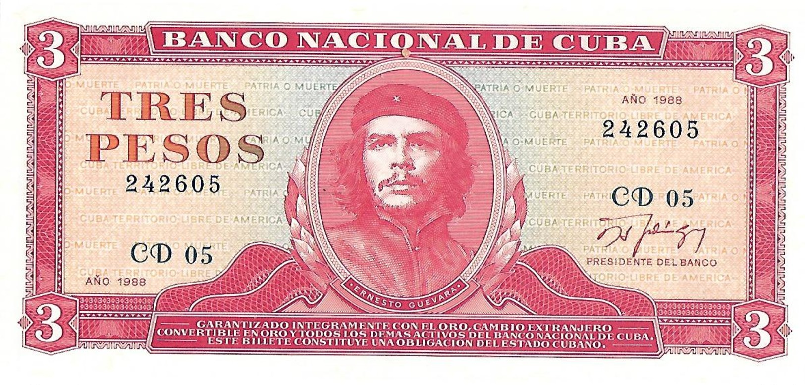 Drei Bankfrische Geldscheine Aus Kuba Von 1988-2005 - Cuba