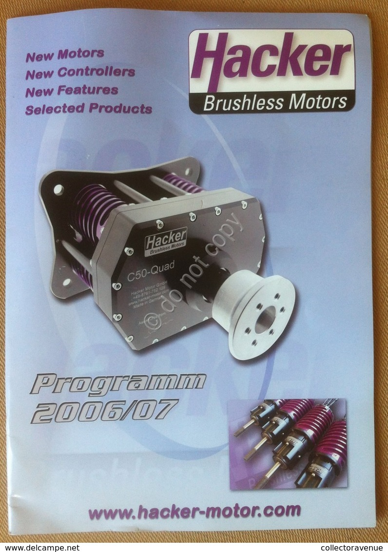 Catalogo Modellismo Dinamico Hacker Brushless Motors 2006 - Altre Collezioni
