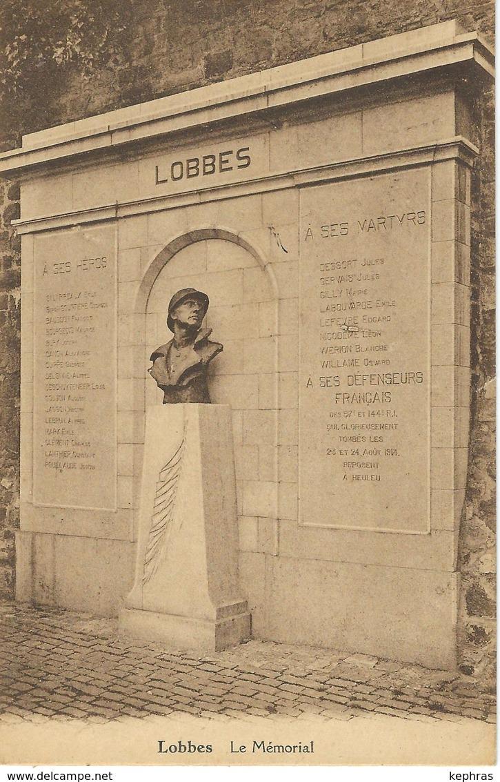 LOBBES : Le Mémorial - RARE CPA -  Cachet De La Poste 1936 - Lobbes