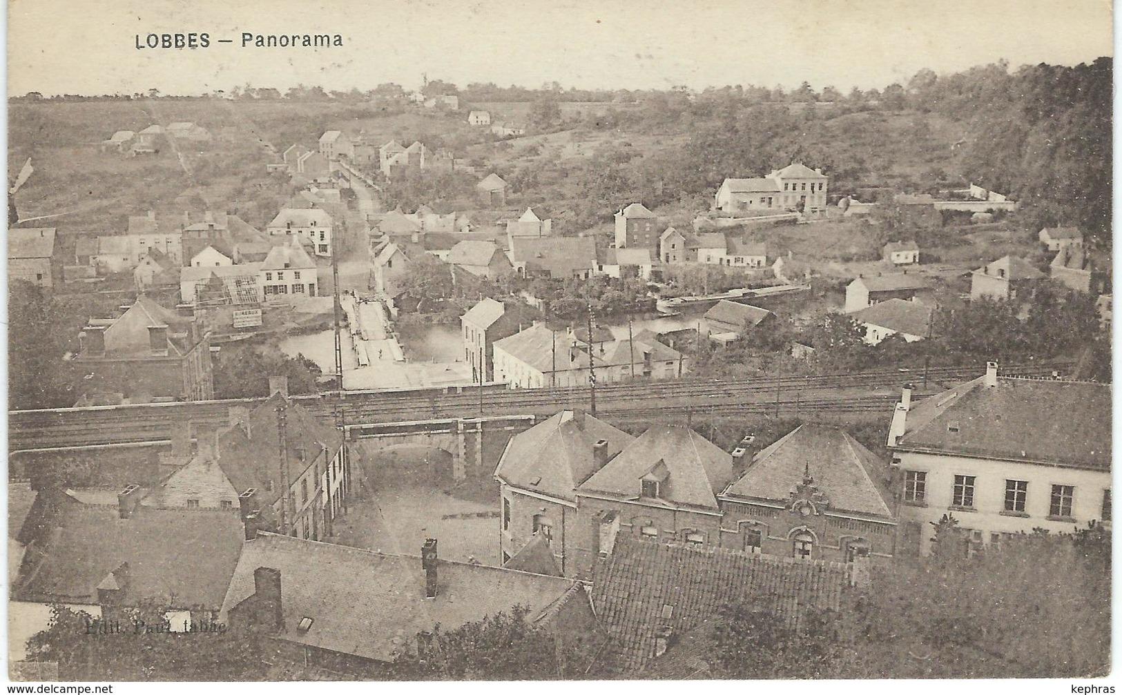 LOBBES : Panorama - CPA PEU COURANTE - Lobbes