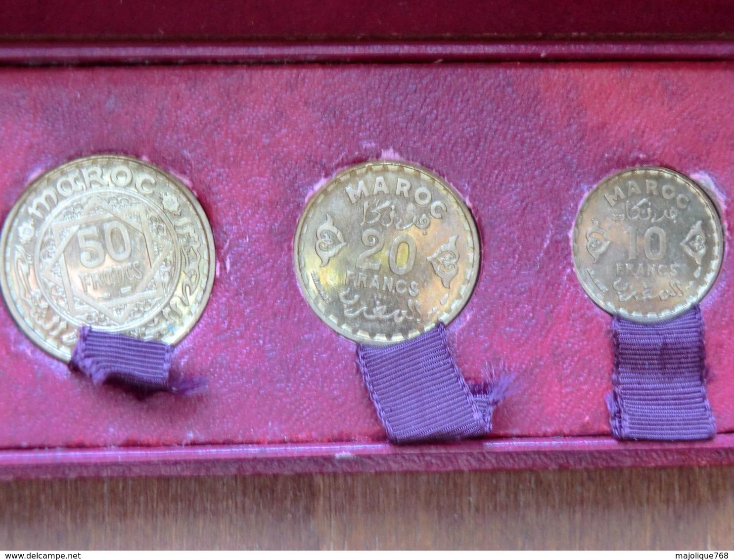 Pieces Du Maroc - 50fr-20fr-10fr. EN ESSAI DANS LEUR BOITE D'ORIGINE 1952-1371 - Algérie