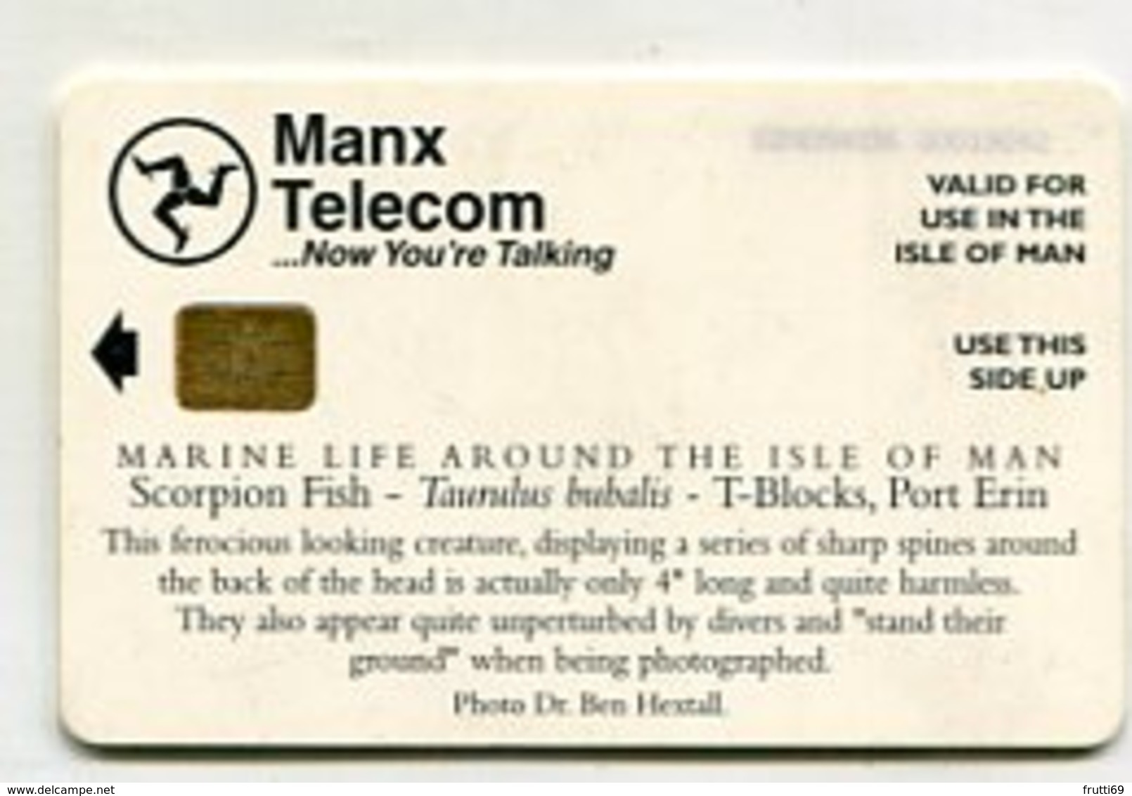 TK 00169 ISLE OF MAN - Chip Scorpion Fish - Isla De Man