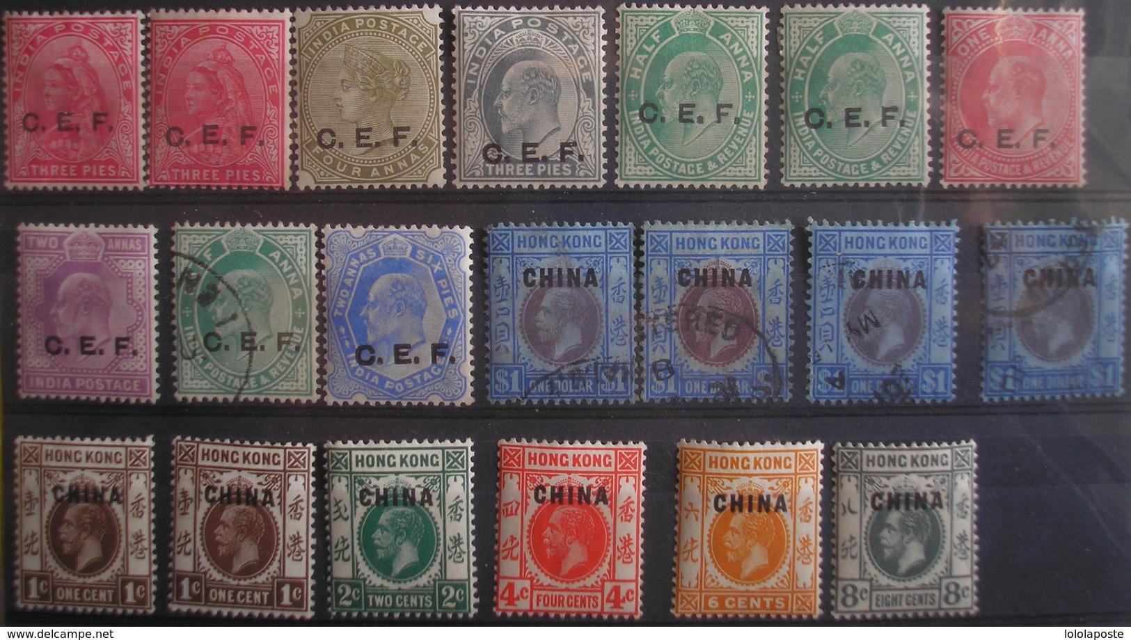 CHINE - Occupation Anglaise - 15 TP Neufs */** Et 5 Oblitérés - Altri