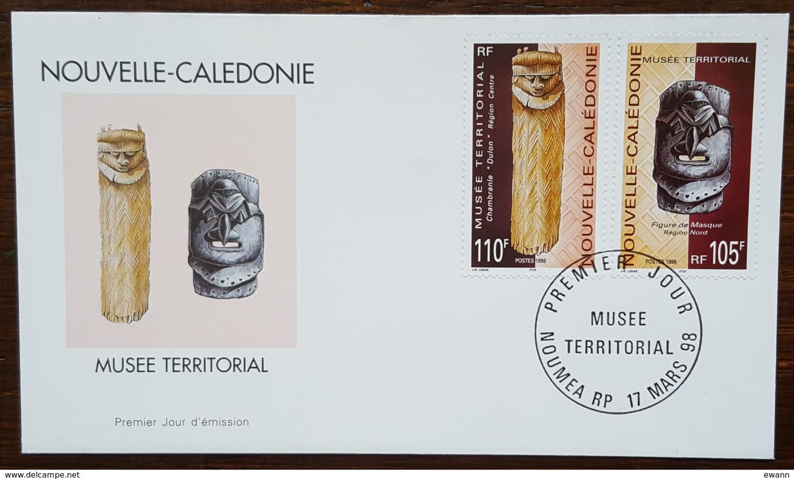 Nouvelle-Calédonie - FDC 1998 - YT N°752, 753 - Musée Territorial - FDC