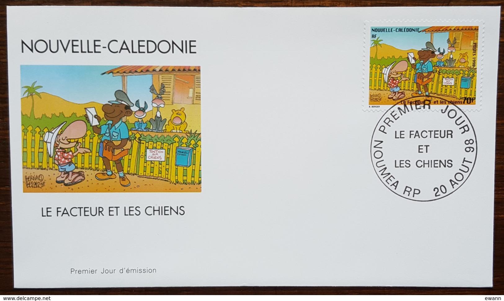 Nouvelle-Calédonie - FDC 1998 - YT N°761 - Journée Du Timbre / Le Facteur Et Les Chiens - FDC