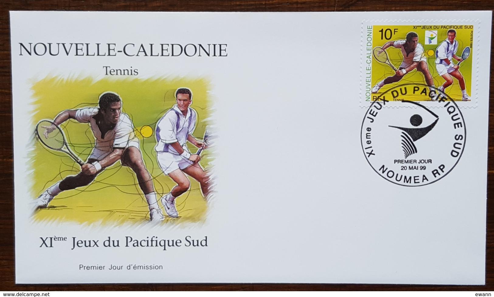 Nouvelle-Calédonie - FDC 1999 - YT N°793 - Jeux Du Pacifique Sud / Sport / Tennis - FDC