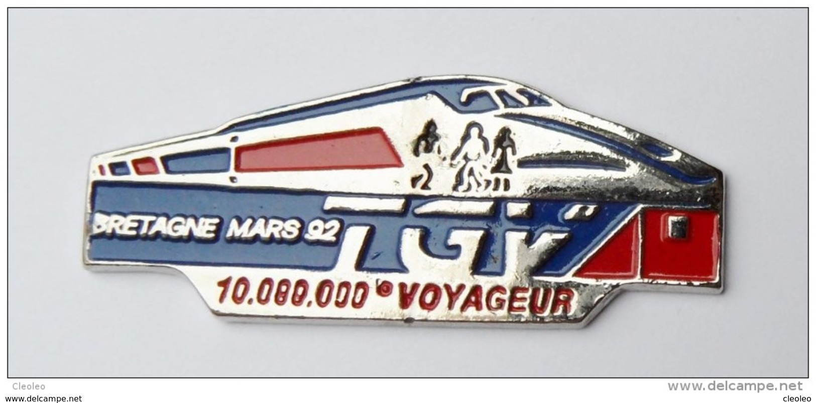 Pin's TGV Bretagne 92 10 000 000eme Voyageur - BR3/5 - TGV