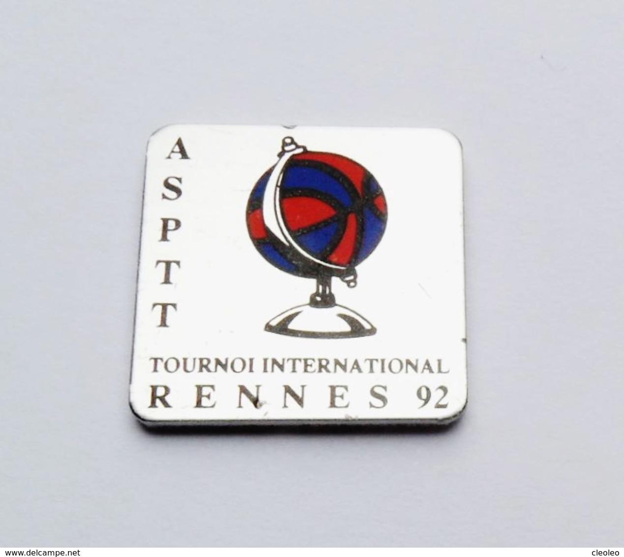 Pin's ASPPT Tournoi International Rennes 92 - BR3/5 - Villes