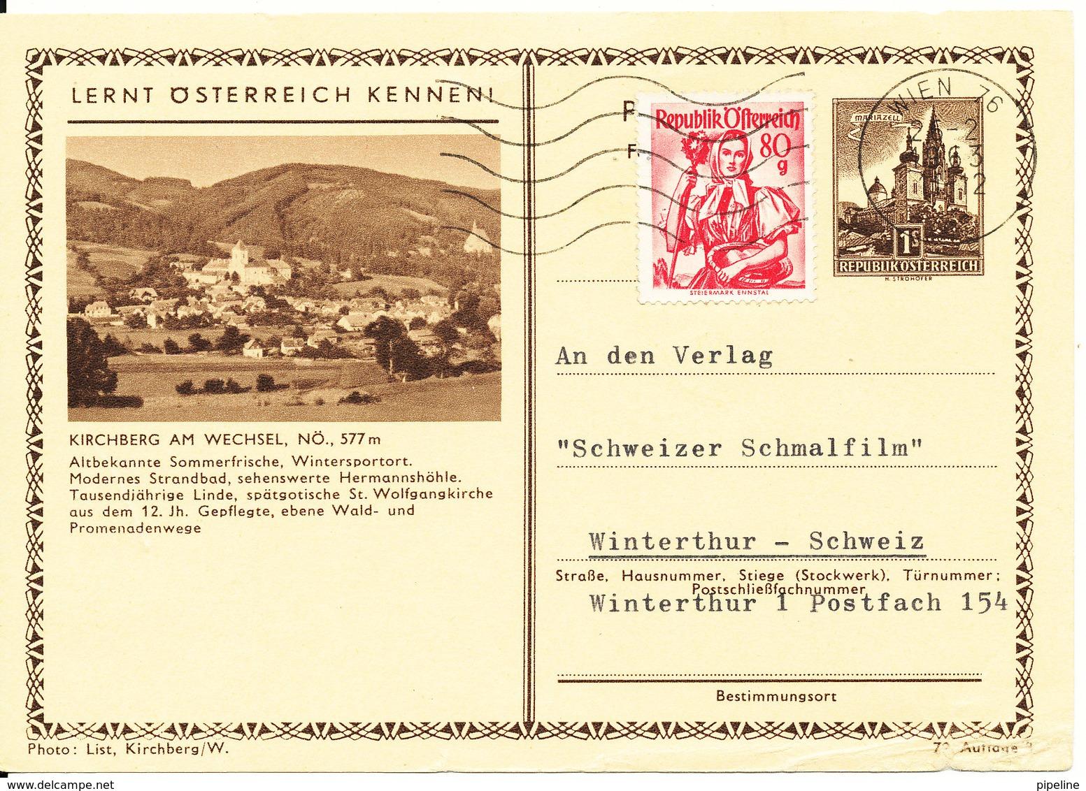 Austria Uprated Postal Stationery Postcard Wien 26-2-1963 (Kirchberg Am Wechsel) - Entiers Postaux