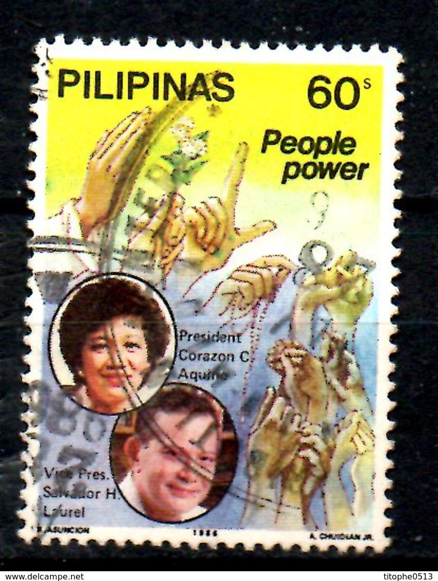 PHILIPPINES. N°1505 Oblitéré De 1986. Corazon Aquino. - Philippines