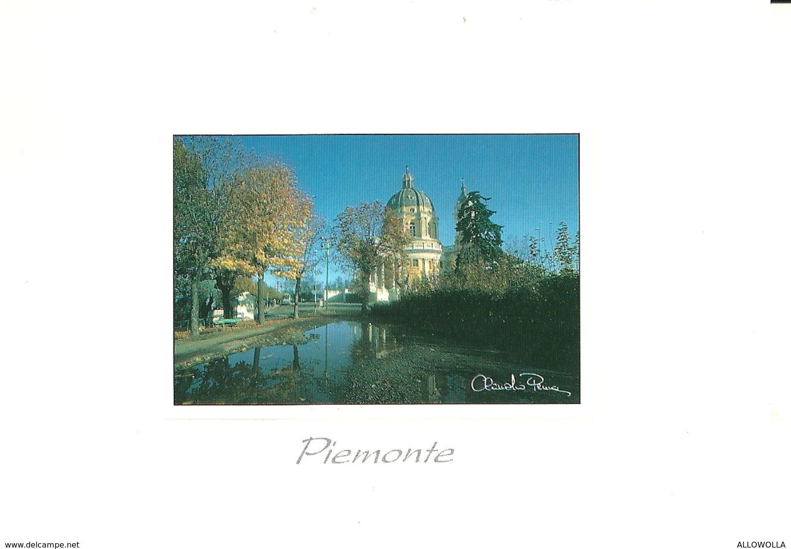 "3008 "" PIEMONTE - TORINO - BASILICA DI SUPERGA - FOTO DI CLAUDIO PENNA "" CART. POS.OR. NON SPED. - Churches"