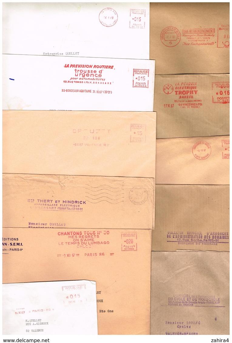 Enveloppe Affranchissement Imprimé Méridian SEMI Thery Hendrick Prévention Routière Officel Cycle Domaine Trophy Deutsc - Autres