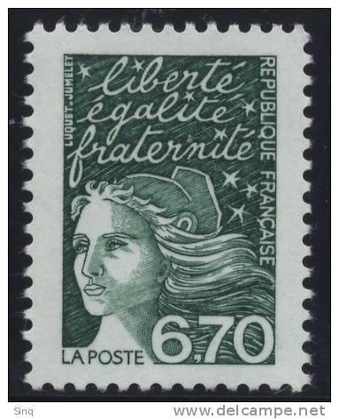 N° 3098  Année 1997  Marianne Du 14 Juillet  Faciale 6,70 Francs - Neufs