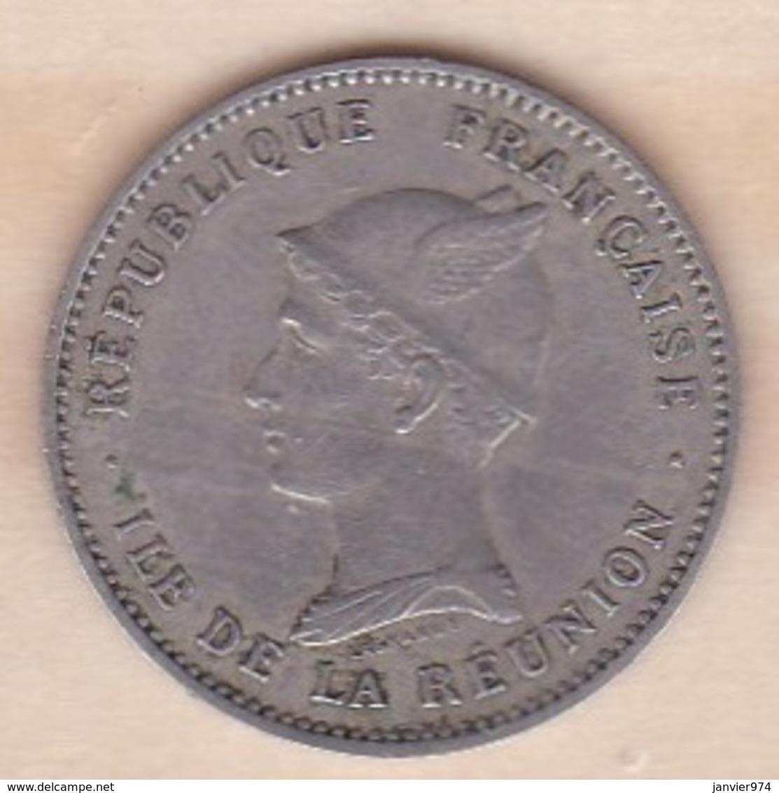 ILE DE LA REUNION. Bon Pour 50 CENTIMES 1896. Cupro Nickel - Réunion