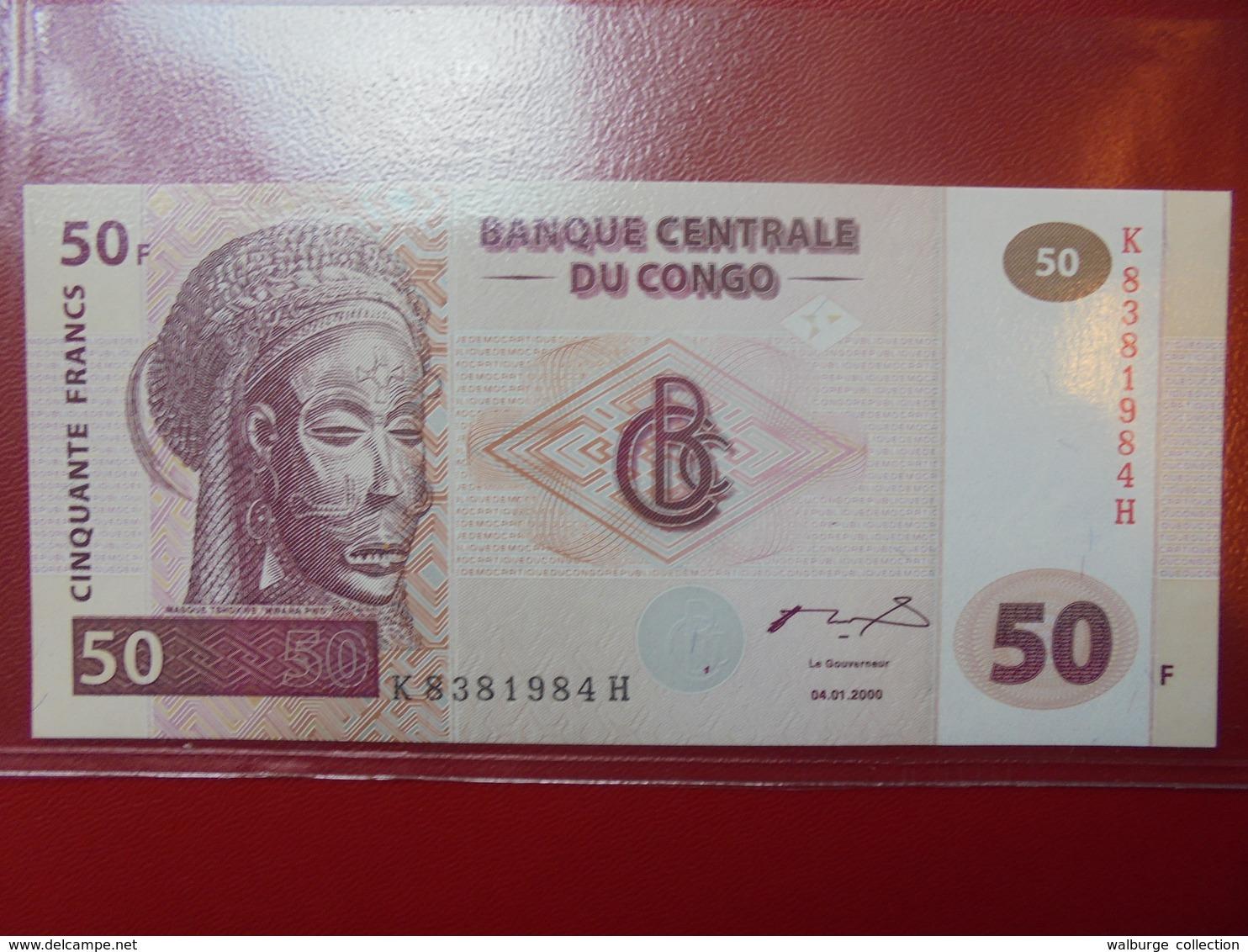 CONGO 50 FRANCS 2000 PEU CIRCULER/NEUF - Congo