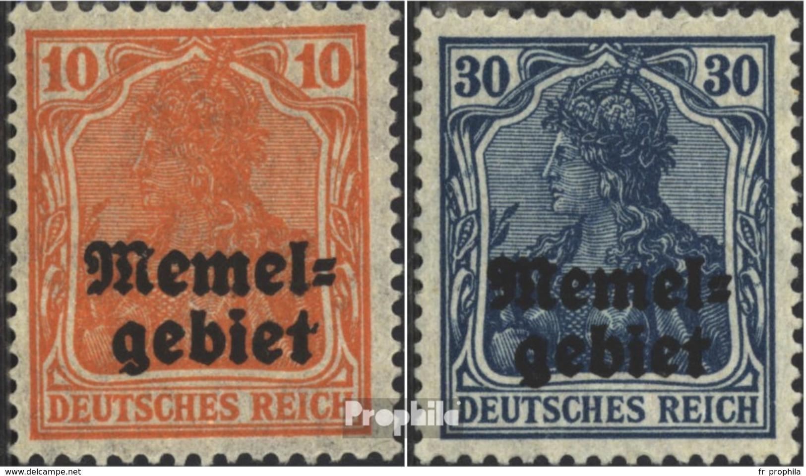 Memelgebiet 14-15 Avec Charnière 1920 Allemagne-surcharge - Klaïpeda